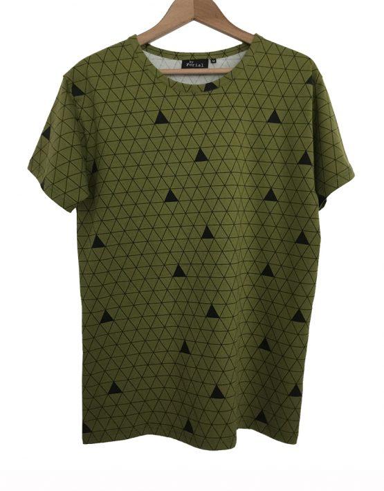 olijfgroen driehoek shirt 1