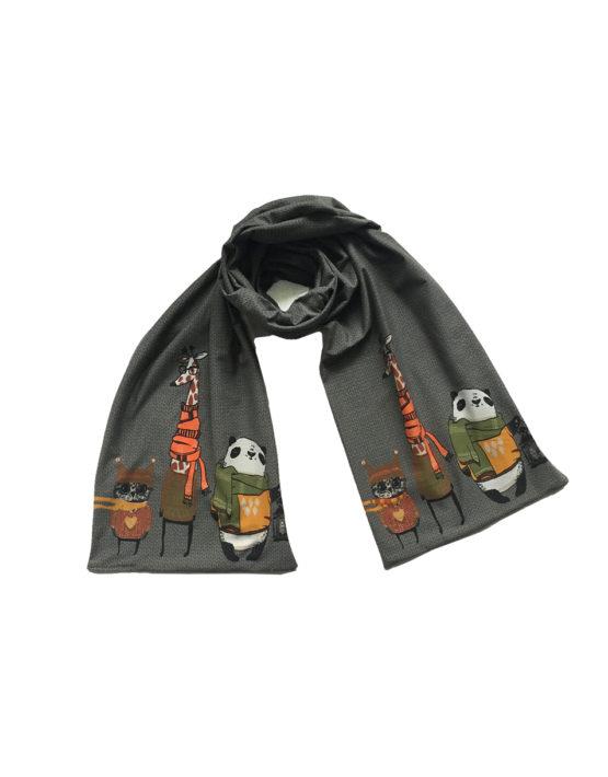 dkrgijze dieren sjaal