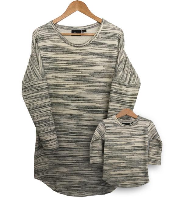 offwhite sweater jurkjes set