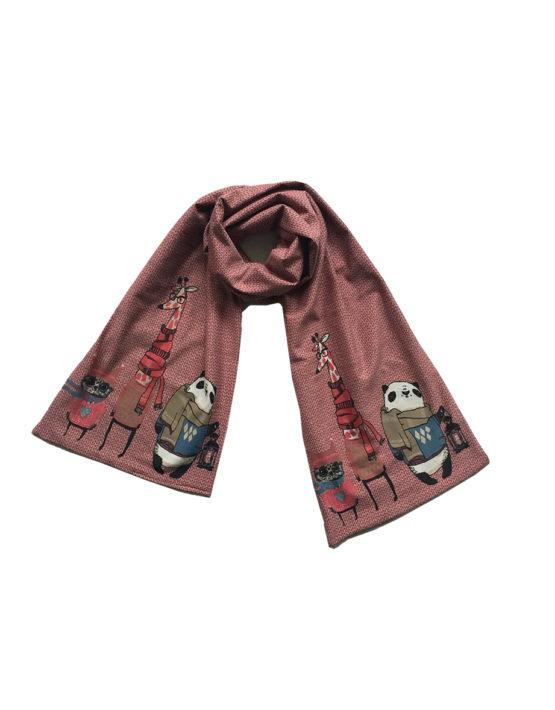 roze sjaal 1