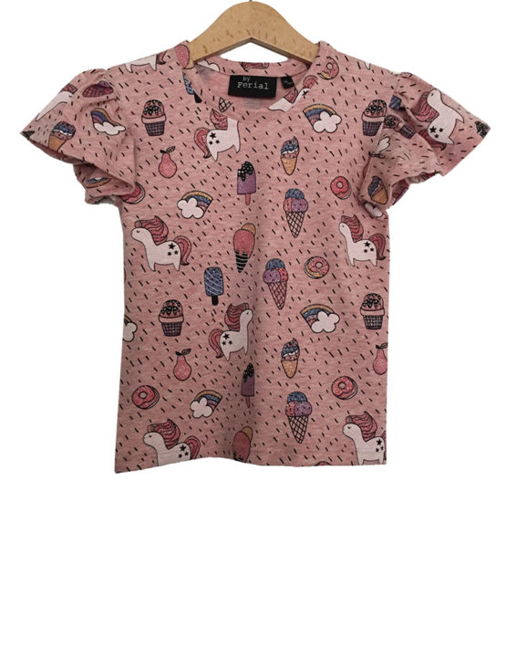 unicorn ruffle shirtje1